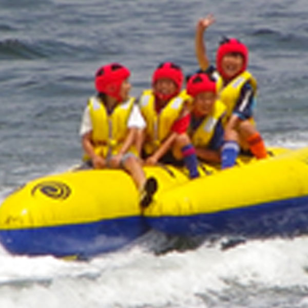 バナナボート体験(21日)